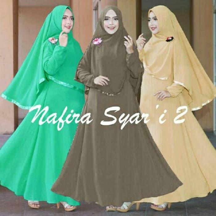 Nafira Syari #2 Navira Gamis Dewasa Busui Murah Muslimah Syari A049