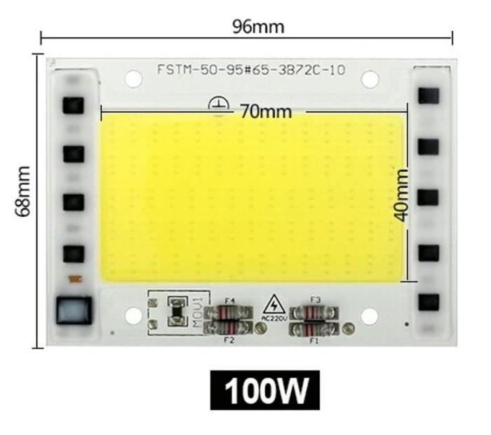 HPL 30W HUGA Warm White 3000-3200K 350-900 Ma For Lampu Sorot.