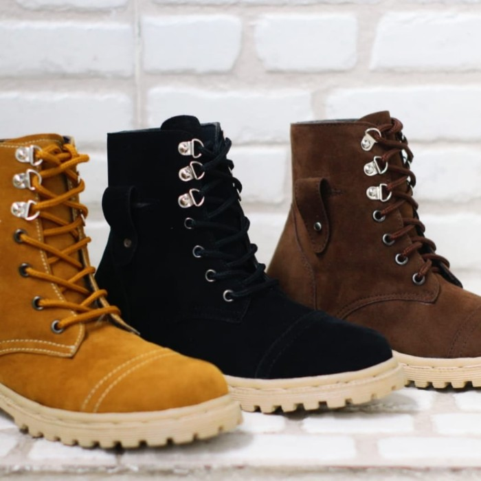 Jual Sepatu Boot Women Boots Tracking Wanita Touring Motor Hitam