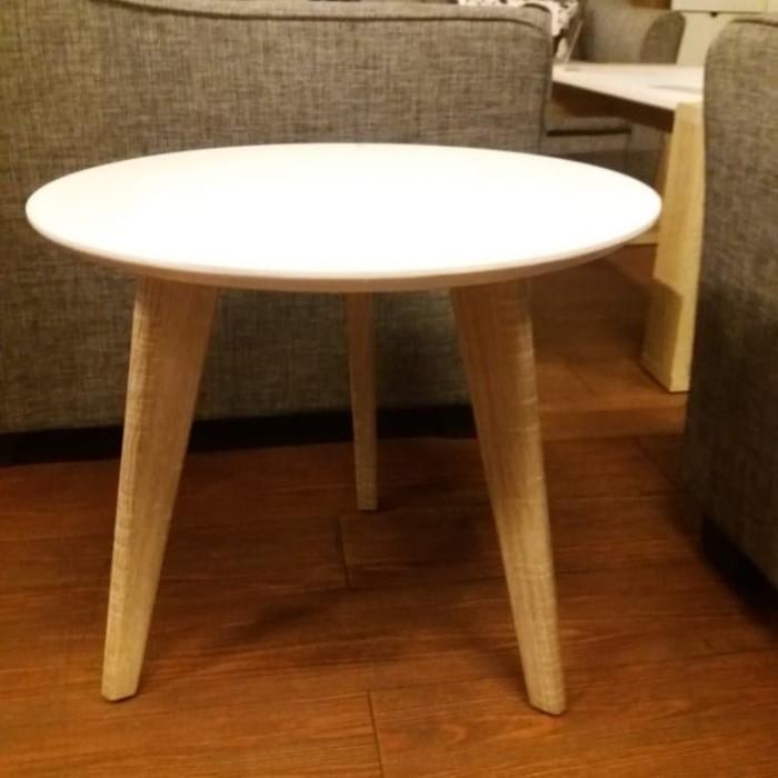Jual Meja Sudut Bulat Putih Minimalis Kab Bogor Ruang Furniture Tokopedia