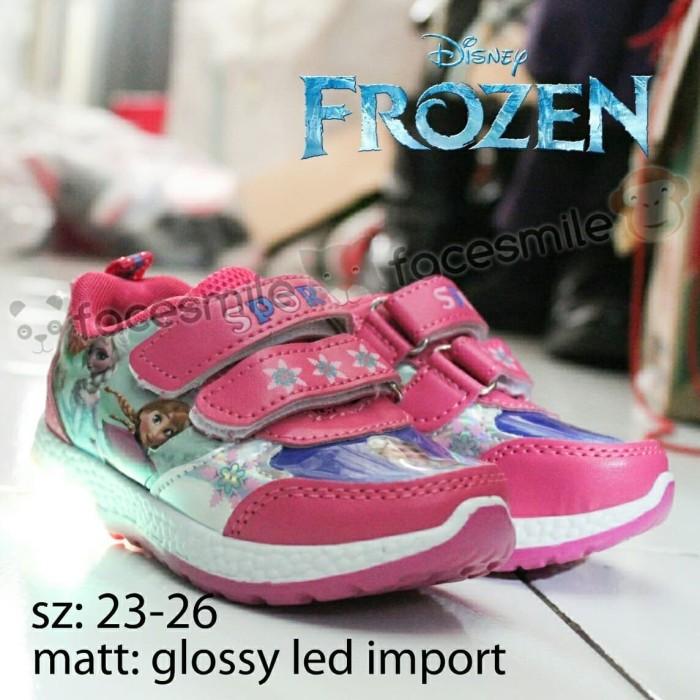 ... harga Sepatu anak import pake lampu frozen pink dan ungu Tokopedia.com d159e0661b