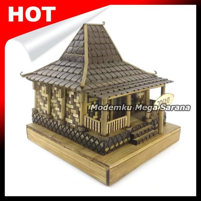 harga Miniatur rumah adat jawa tengah / joglo dari bambu - 12x15x10 Tokopedia.com