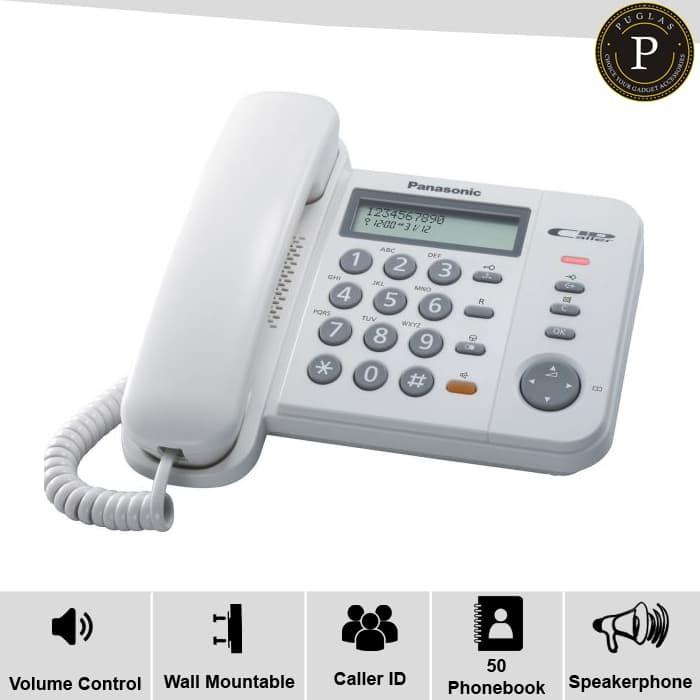 harga Telepon panasonic kx-ts580mx / telephone kantor / telepon rumah Tokopedia.com
