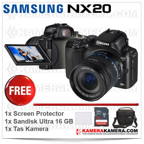 harga Samsung nx20 kit 18-55mm mirrorless wi-fi black Tokopedia.com