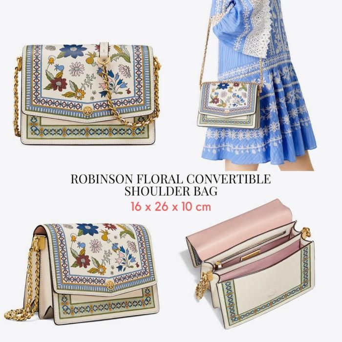 3a42afc9fb4 Jual TORY BURCH ROBINSON FLORAL CONVERTIBLE SHOULDER BAG rtb588 ...