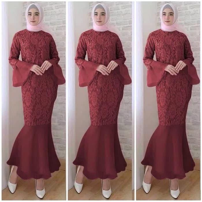 Jual Maxi Gamis Mermaid Dress Maxy Gaun Baju Pesta Pernikahan Wanita Busui Kota Tangerang Boutique Preloved Tokopedia