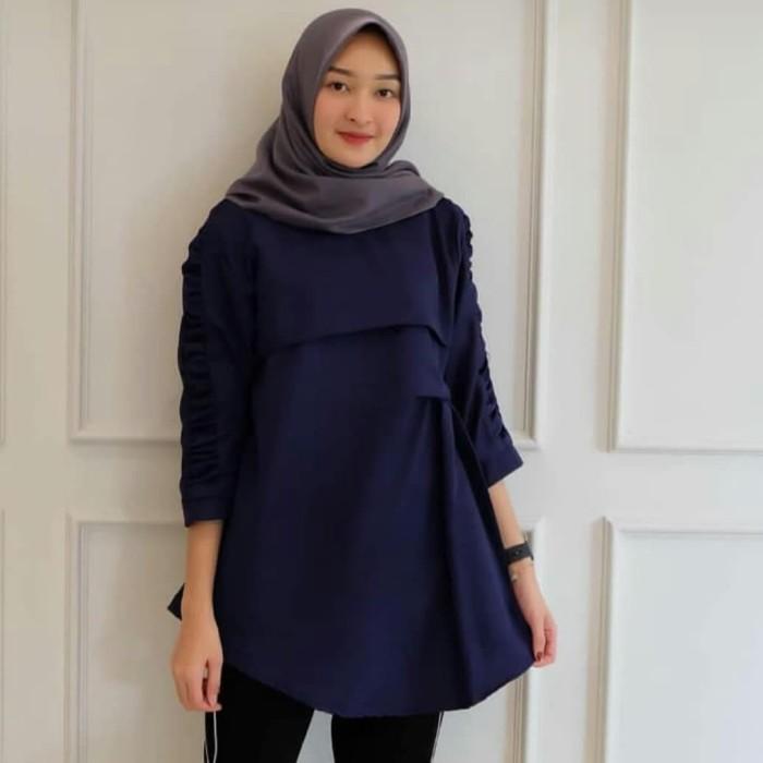 harga Baju muslim wanita/atasan blouse tunik muslim/baju hijab/afia blouse Tokopedia.com