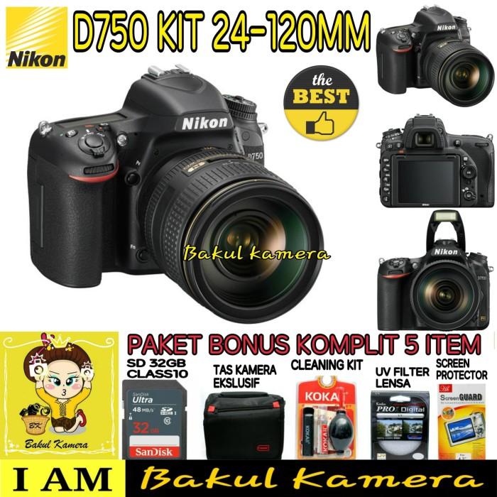 Jual NIKON D750 KIT 24-120mm PAKET LENGKAP - Hitam - Bakul kamera   Tokopedia