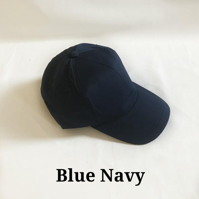 Jual topi baseball pria dan wanita adidas warna biru navy polos ... 79ecf98fad