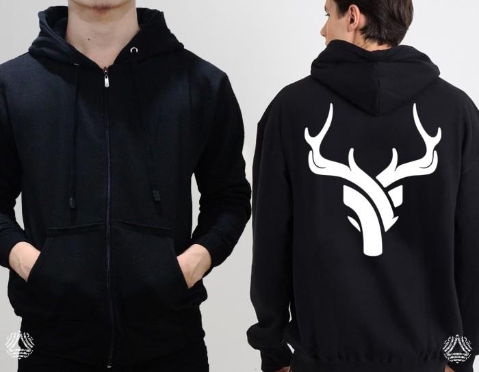 Promo sweater hoodie zipper outerwear pria wanita high quality 34z