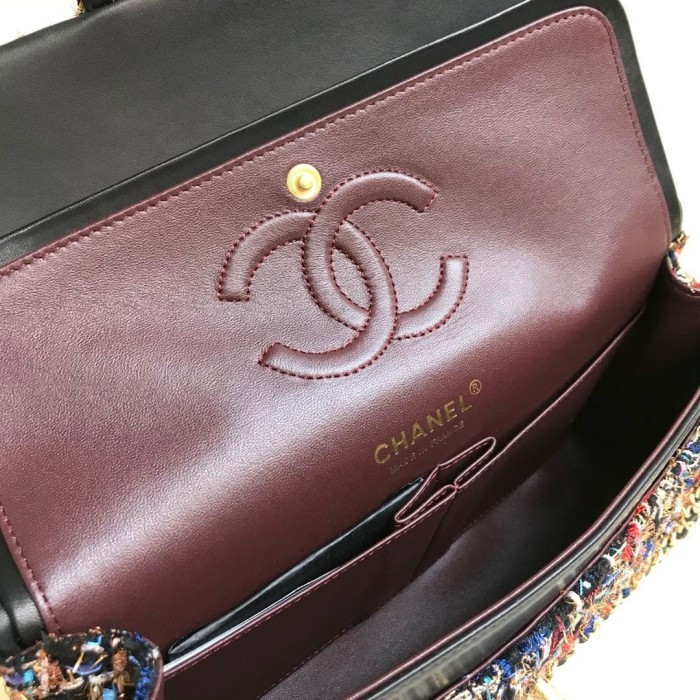7ea57ea8b5b9b0 Jual Tas Chanel Classic 25 Tweed Double Flap SHW PUTIH Mirror A1112 ...