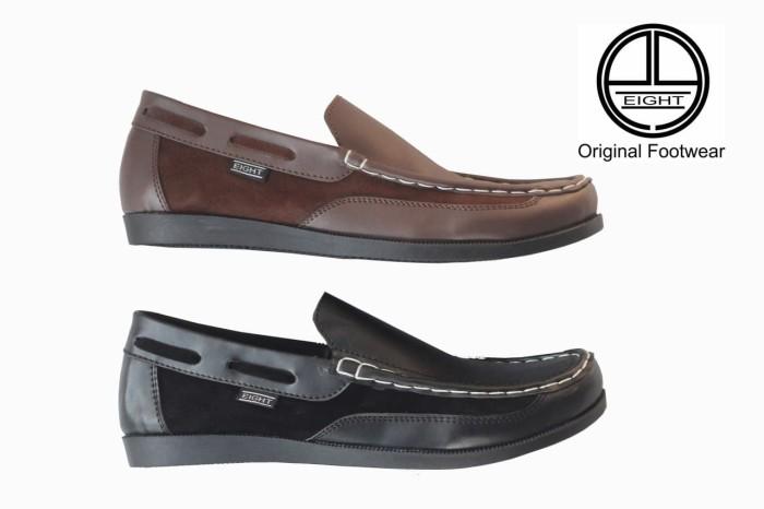 Sepatu Casual Kickers Slip On Pria Kulit Asli Slop loafers Murah - Hitam b3a7e0325d