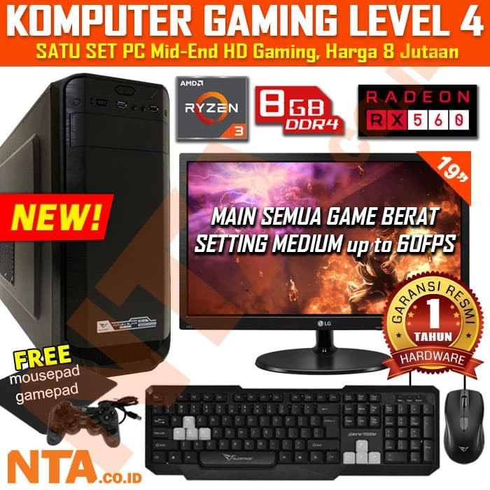 harga Komputer gaming set level 4 Tokopedia.com