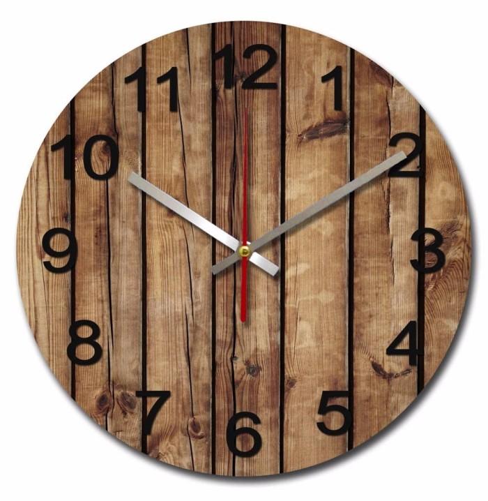 Jual Jam Dinding Unik Artistik BrownWood Wall Clock - celloshop3 ... d241ba1d86