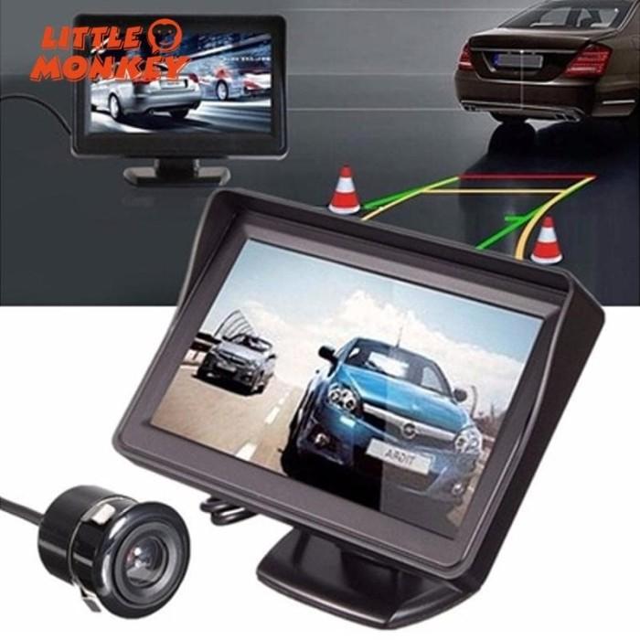 """Car SUV 4.3/"""" TFT HD LCD Screen Backup Rear View Parking Mirror Display Monitor"""