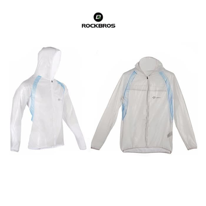 harga Rockbros rk1001 bicycle jacket raincoat waterproof - jas hujan white Tokopedia.com