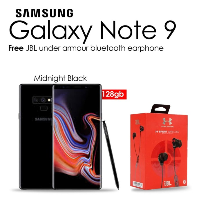 Samsung Galaxy Note 9 [6gb/128gb] Midnight Black Free Jbl Earphone - Garansi Resmi - Blanja.com