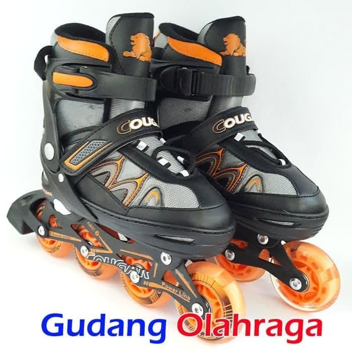 harga Sepatu roda cougar inline skate mzs835l balck yellow Tokopedia.com af2c962940