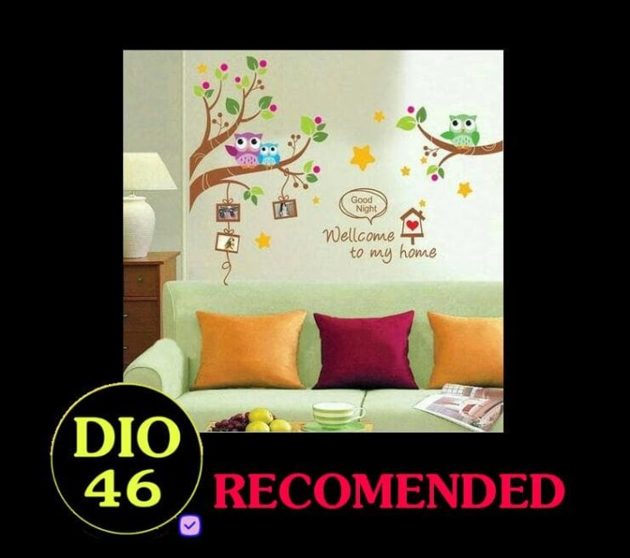 jual murah meriah . . . . . wall aticker 60x90 | wall sticker