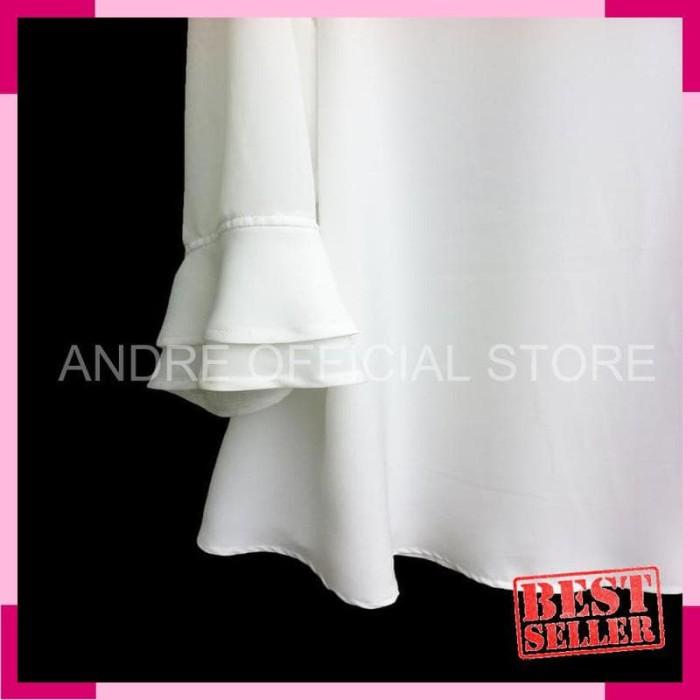 [NEW] Blouse Wanita Big Size 2L- 3L- 4L & 5L Warna Putih Tulang -