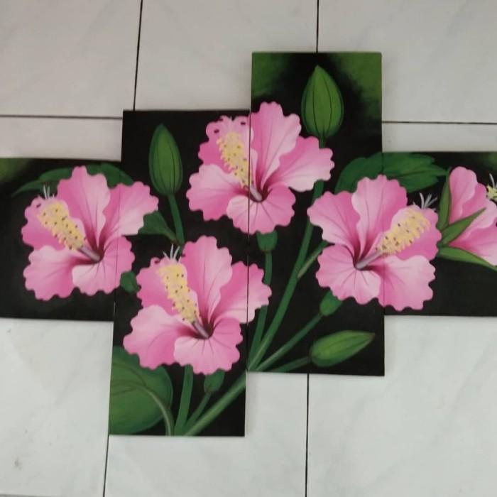 Jual Lukisan Panel Bunga Kembang Sepatu Kab Jembrana Lukisan