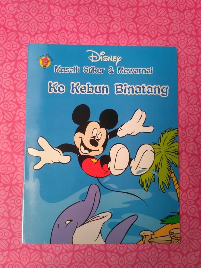 Jual Disney Mosaik Stiker Mewarnai Ke Kebun Binatang Dojo Buku