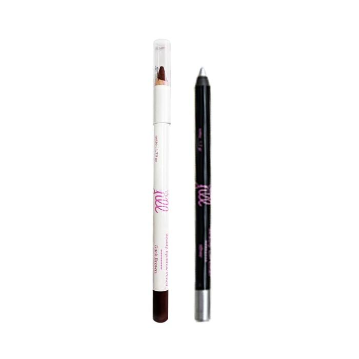 harga Jill beauty eye brow brown pencil dan beauty gel liner silver Tokopedia.com
