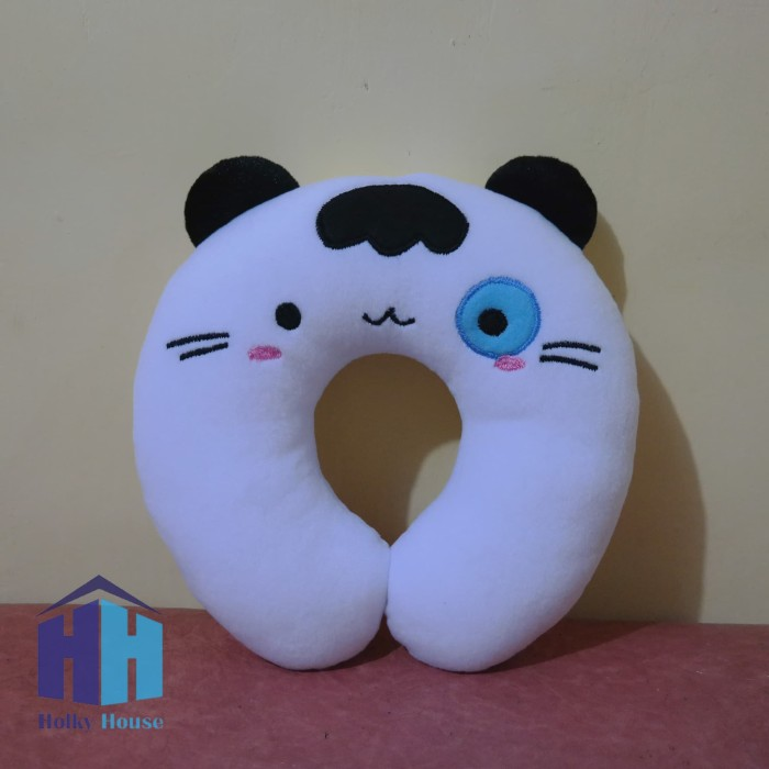Bantal leher karakter kucing (cat neck pillow)
