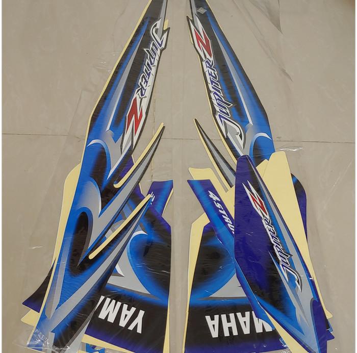 Stiker bodi & lis body & striping jupiter z 2006 hitam biru ...