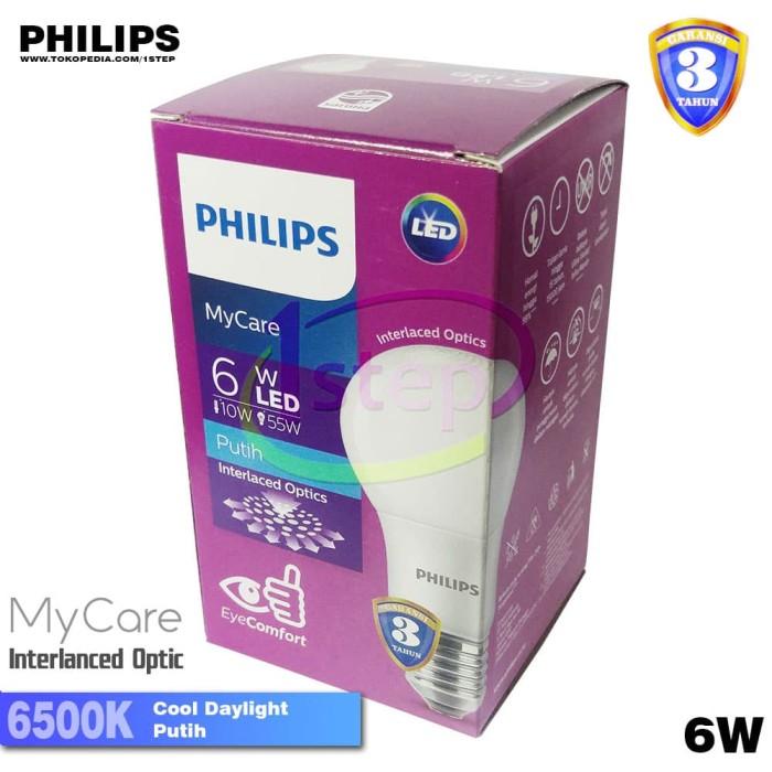 Lampu led bulb philips mycare 6w 6 watt 6watt my care putih