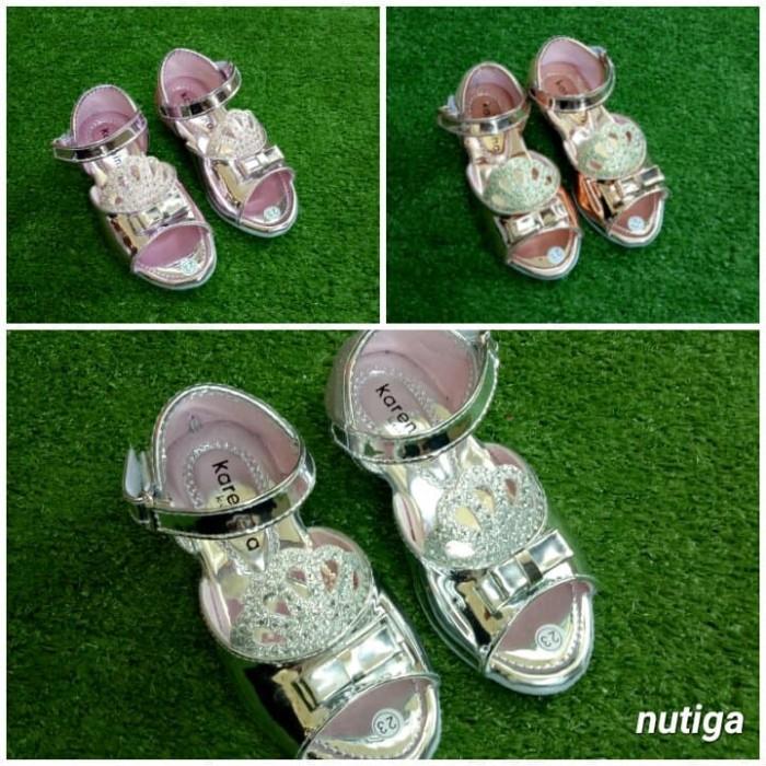 Jual Mahkota Sepatu Sandal Pesta Wedges Anak Blink-Blink Mewah - 24 ... edb05101ee
