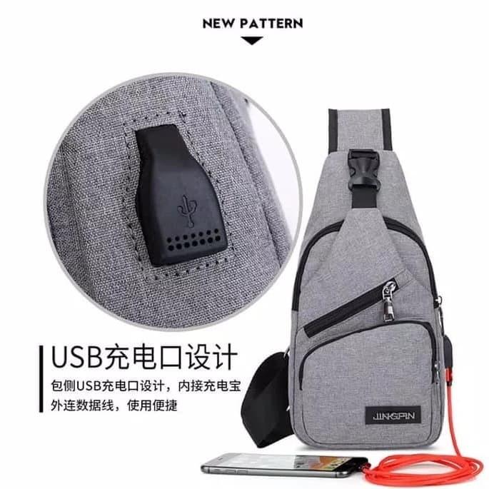Bodypack Bag Tas Selempang Pria Bahan Jeans | Men Sling Shoulder Bags