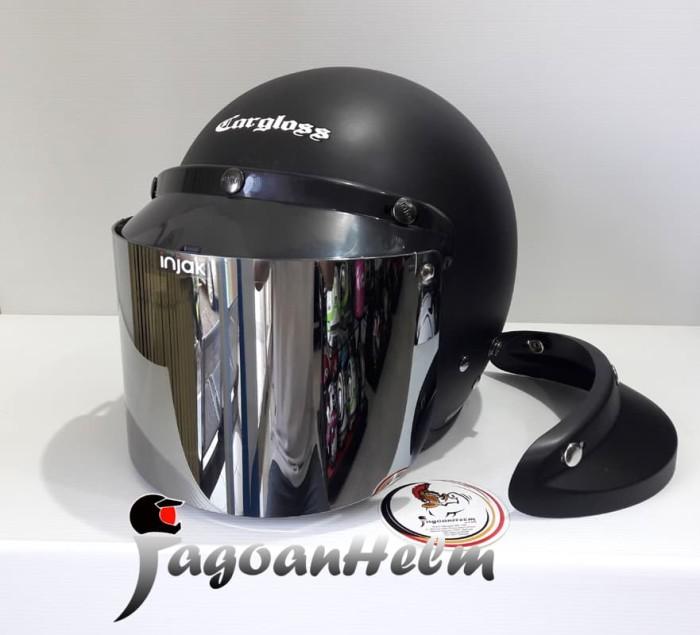 harga Cargloss helm retro army | visor injak lurus silver | carglos Tokopedia.com