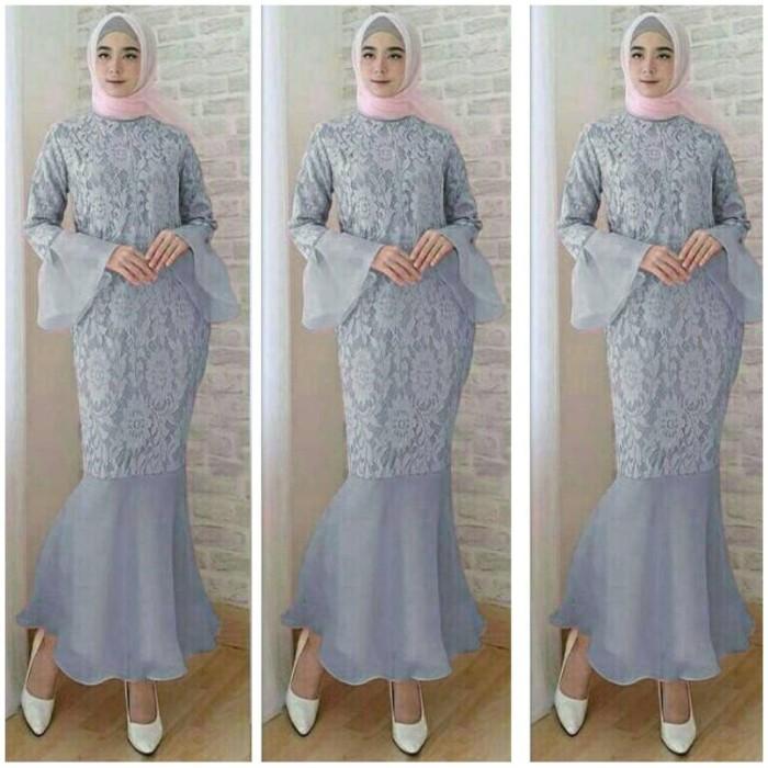 harga Baju gamis maxy duyung grey dress baju wanita bagus murah mx abu vt Tokopedia.com