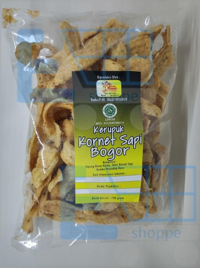harga Kerupuk kornet sapi bogor   cap warung   190 gram snack makanan ringan Tokopedia.com