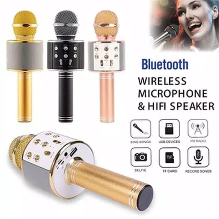 Foto Produk Mic Microphone Wster WS-858 Wireless Bluetooth Portable dari BENTENG STORE