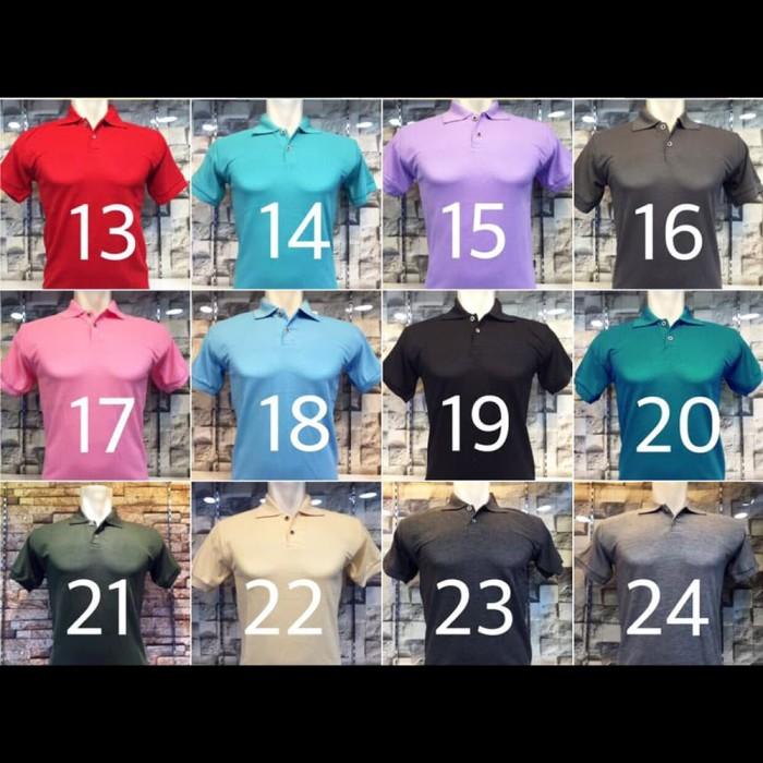 Kaos Polo Shirt Polos Kerah Premium Grosir Golf Rasa Lacoste / Gildan - Abu-abu Muda, M