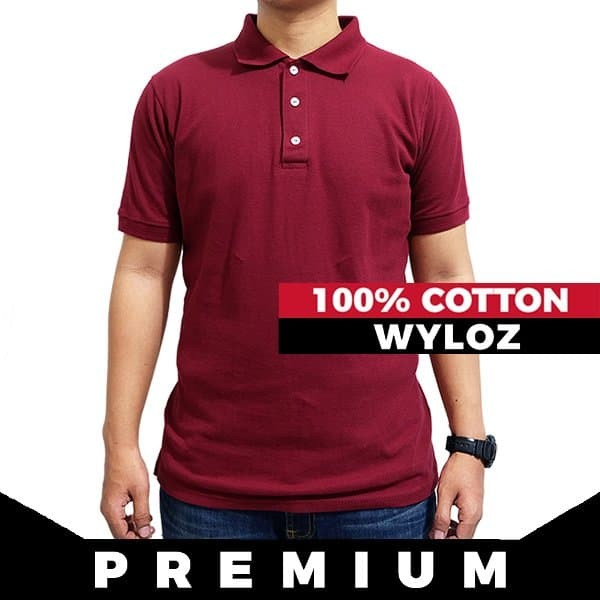 Jual Thamcitstyle Kaos Polo Shirt Kerah Baju Pria Merah Maroon ... da5d9371e5