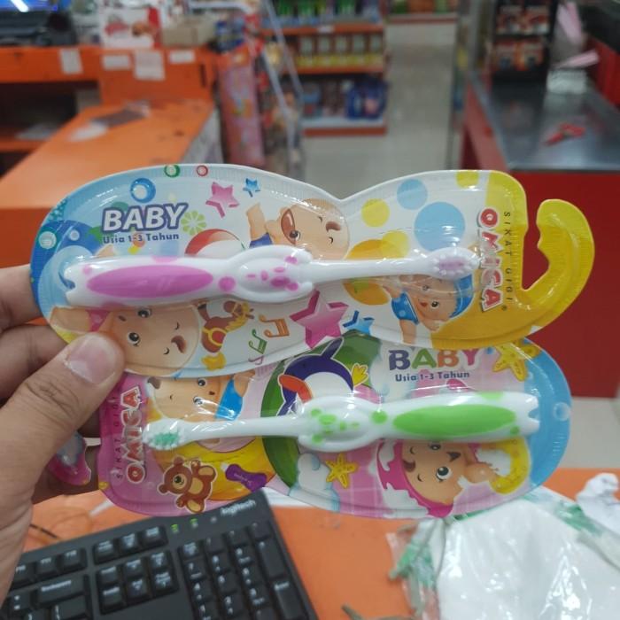Jual Sikat Gigi Bayi Omica 1-2 Tahun   OMICA Baby Tooth Brush - Thio ... 91582cb38f