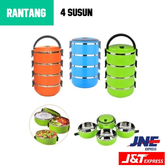 Rantang 4 Susun Lunch Box / Cathering box / tempat makan - stainless