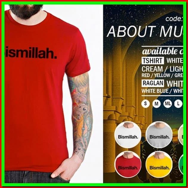 e8ef45e9b6aa Jual fashion wanita cardigan Kaos About Muslim 07 Bismillah pria ...