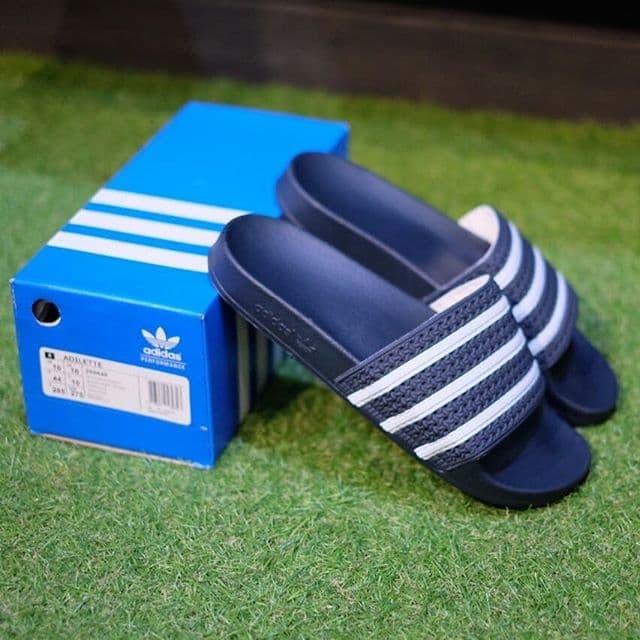 e86eff554fb1 Jual Sandal Adidas Adilette Sandals Navy White Original ...