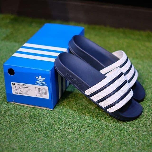 856745ce9fb6 Jual Sandal Adidas Adilette Sandals White Navy Original ...