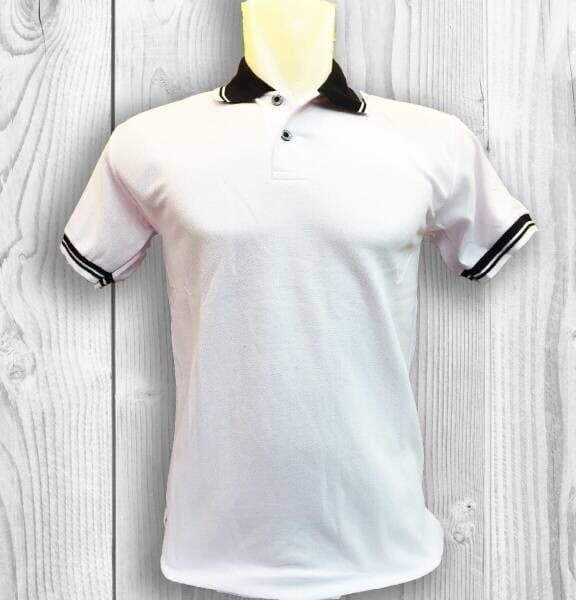 Polo shirt putih kaos kerah polos baju pria cowok lacos lacoste ... 0f085e8d46