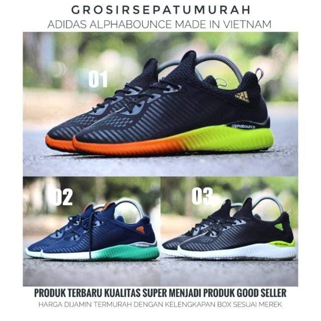 Terbaru 2019 Sepatu Adidas Alphabounce Pria Termurah dan terbaru - Navy 64a561b1eb