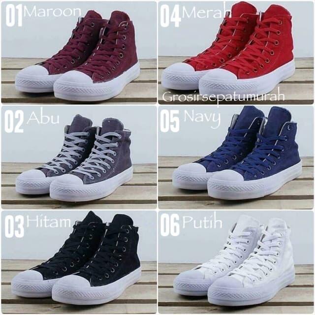 Jual Sepatu Converse Chuck Taylor Tinggi Kualitas Grade Original Murah -  Navy 61da7de6b7