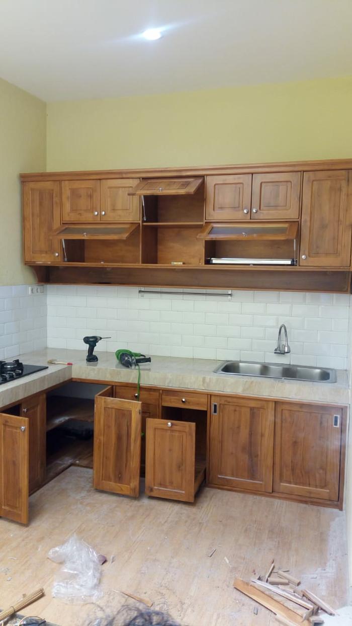 Jual Kitchenset meja dapur murah kayu Jati Jepara - Kab. Tangerang - Amanah  furniture Bekasi   Tokopedia