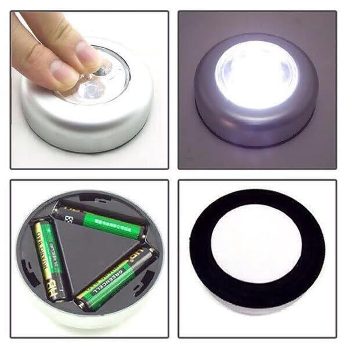 Best Lampu Sentuh Emergency Led Stick Click Touch Lamp - Perak
