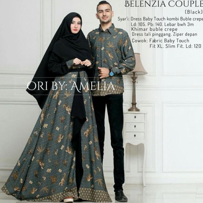 Jual Belenzia Couple Batik Sarimbit Pasangan Suami Istri Baby Touch