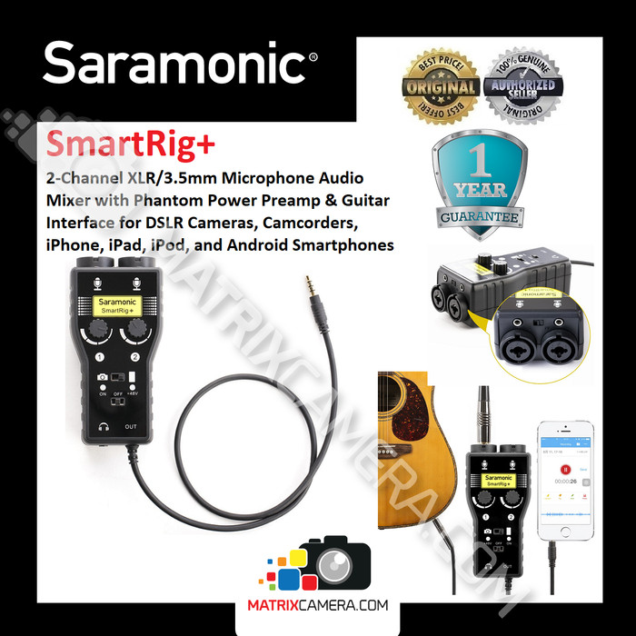 harga Saramonic smartrig+ xlr / 3.5mm audio mixer for camera smartphone Tokopedia.com